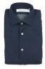 SBU 01633 Camicia classica in cotone tinta con puro indaco 06