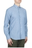 SBU 01634 淡いインディゴシャンブレーコットンシャツ 02