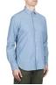 SBU 01634 Camicia in cotone chambray indaco chiaro  02
