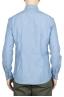 SBU 01634 Camicia in cotone chambray indaco chiaro  05