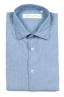 SBU 01634 Camicia in cotone chambray indaco chiaro  06