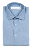 SBU 01634 Pale indigo chambray cotton shirt 06