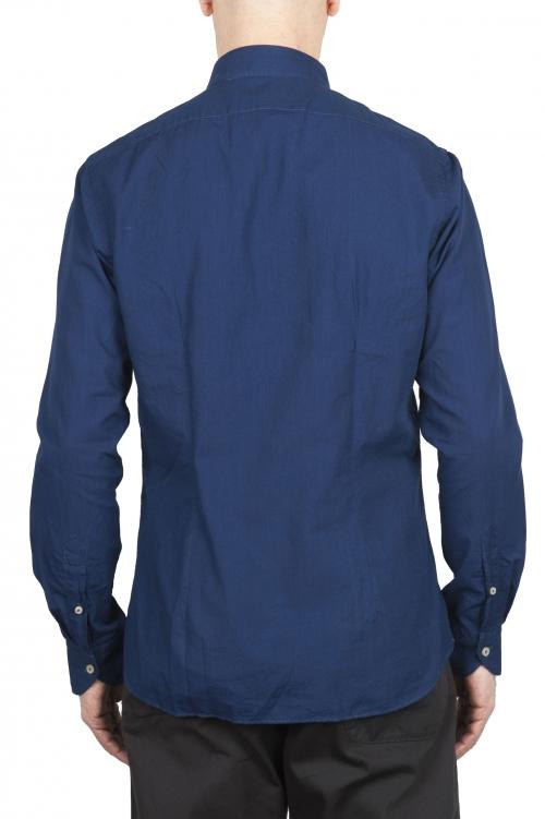 SBU 01635 ダークインディゴシャンブレーコットンシャツ 01