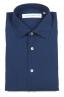 SBU 01635 ダークインディゴシャンブレーコットンシャツ 06
