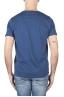 SBU 01638 T-shirt à col rond en coton flammé bleu 05