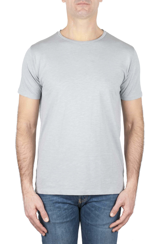 SBU 01639 フレームドコットンスクープネックTシャツパールグレー 01