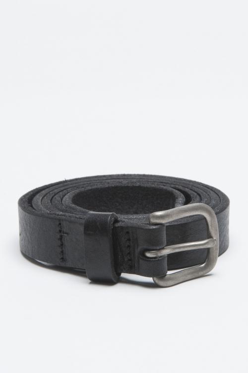 SBU - Strategic Business Unit - Classic Adjustable Buckle Closure Black Leather 1 Inch Belt