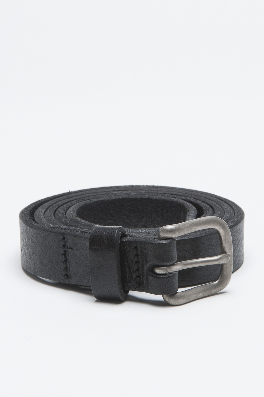 SBU - Strategic Business Unit - Classic Adjustable Buckle Closure Black Leather 1 Inch Belt