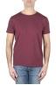 SBU 01640 Flamed cotton scoop neck t-shirt bordeaux 01