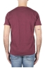 SBU 01640 T-shirt à col rond en coton flammé bordeaux 05