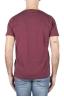 SBU 01640 T-shirt girocollo aperto in cotone fiammato bordeaux 05