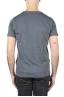 SBU 01641 T-shirt à col rond en coton flammé gris foncé 05
