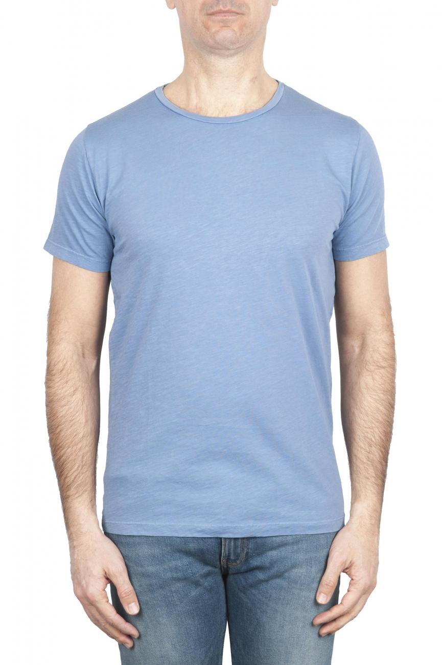SBU 01642 Camiseta de algodón con cuello redondo en color azul claro 01