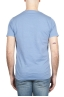 SBU 01642 Flamed cotton scoop neck t-shirt light blue 05