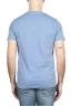 SBU 01642 T-shirt à col rond en coton flammé bleu clair 05
