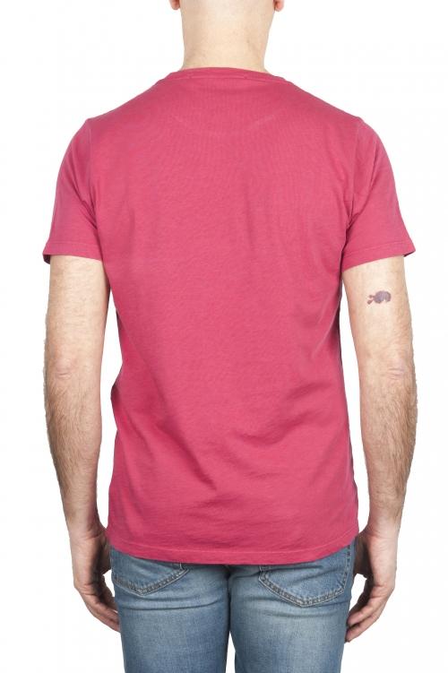 SBU 01643 T-shirt à col rond en coton flammé rouge 01