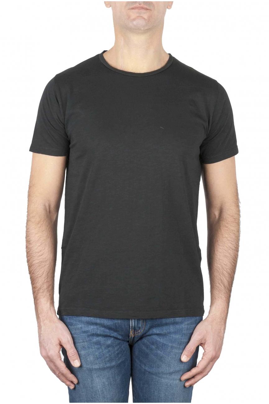 SBU 01644 フレームドコットンスクープネックTシャツブラック 01