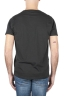 SBU 01644 Flamed cotton scoop neck t-shirt black 05