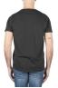 SBU 01644 T-shirt à col rond en coton flammé noir 05