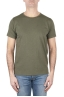 SBU 01645 Flamed cotton scoop neck t-shirt green 01
