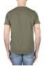 SBU 01645 T-shirt à col rond en coton flammé vert 05