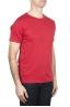 SBU 01647 T-shirt à col rond en coton flammé rouge 02