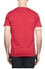 SBU 01647 T-shirt à col rond en coton flammé rouge 05