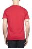 SBU 01647 T-shirt girocollo aperto in cotone fiammato rossa 05