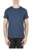 SBU 01648 Flamed cotton scoop neck t-shirt blue 01
