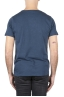 SBU 01648 T-shirt à col rond en coton flammé bleu 05