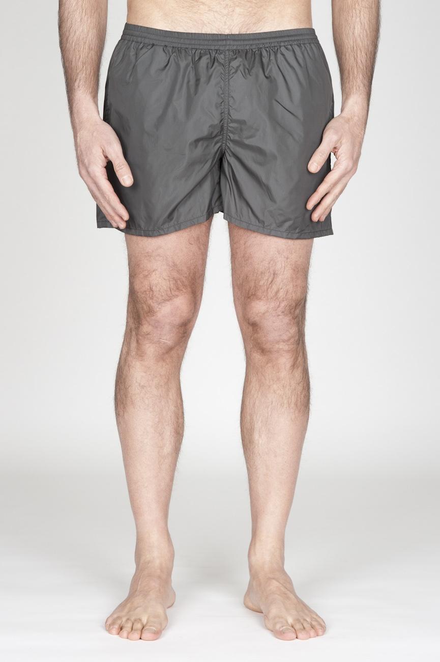 SBU - Strategic Business Unit - Costume Pantaloncino Classico In Nylon Ultra Leggero Grigio