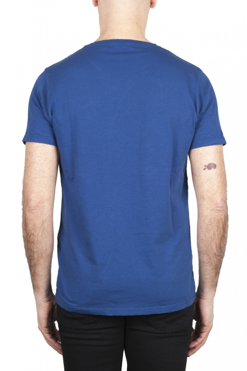 SBU 01649 フレームドコットンスクープネックTシャツブルー 01