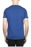 SBU 01649 T-shirt à col rond en coton flammé bleu 05