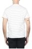 SBU 01650 Camiseta a rayas de algodón con cuello redondo en blanco y azul 05