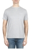 SBU 01652 Round neck patch pocket cotton t-shirt mélange grey 01