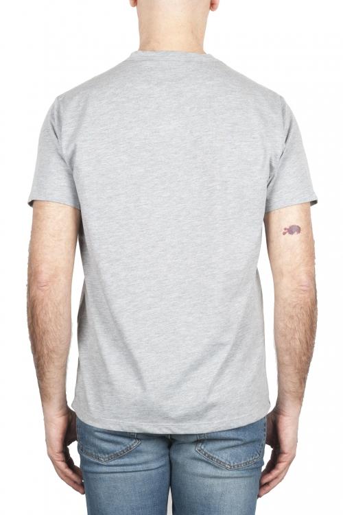 SBU 01652 T-shirt girocollo in cotone con taschino grigia melange 01