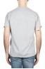SBU 01652 Camiseta de algodón gris melange de cuello redondo y bolsillo de parche 05