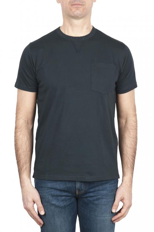 SBU 01653 Tee-shirt en coton à col rond et poche plaquée anthracite 01