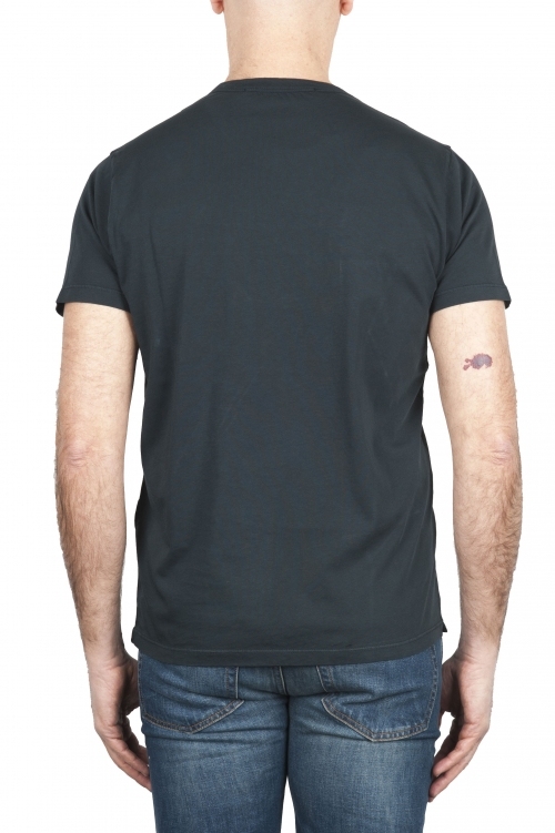 SBU 01653 T-shirt girocollo in cotone con taschino antracite 01
