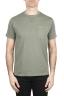 SBU 01654 Round neck patch pocket cotton t-shirt green 01