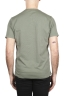 SBU 01654 Camiseta de algodón verde de cuello redondo y bolsillo de parche 05