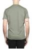SBU 01654 Tee-shirt en coton à col rond et poche plaquée vert 05