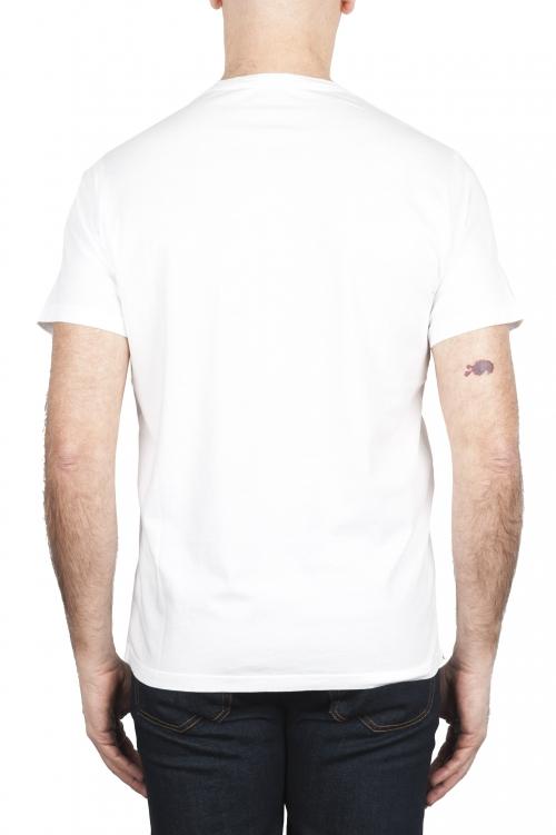 SBU 01655 ラウンドネックパッチポケットコットンTシャツホワイト 01