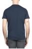 SBU 01656 Camiseta de algodón azul marino de cuello redondo y bolsillo de parche 05