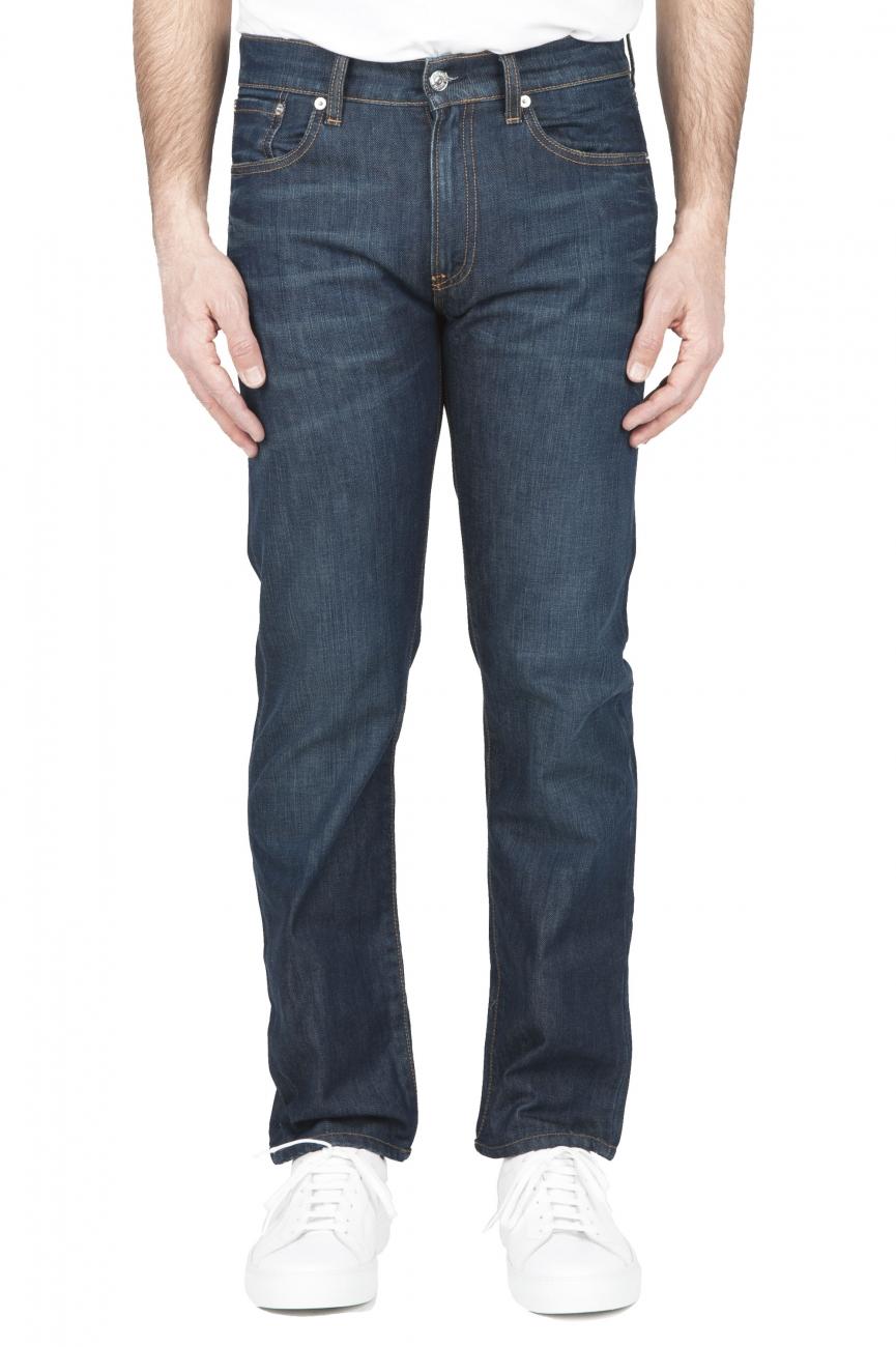 SBU 01448 Stone washed organic cotton denim blue jean 01
