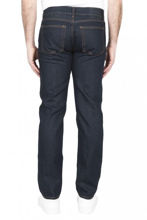 SBU 01449 Natural indigo dyed washed japanese selvedge denim blue jeans 01