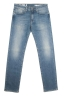 SBU 01450 Pure indigo dyed stone bleached stretch cotton blue jeans 06