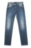 SBU 01452 Pure indigo dyed stone washed stretch cotton blue jeans 06