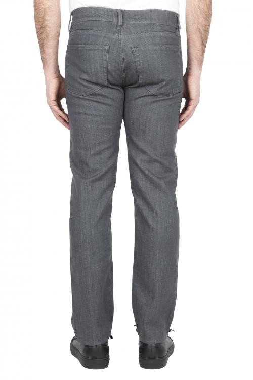 SBU 01454 Jeans elasticizzato grigio tintura vegetale denim giapponese 01