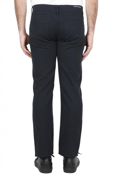 SBU 01666 Jeans elasticizzato in bull denim sovratinto prelavato blu 01
